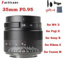 7 handwerker 7 handwerker 35mm F 0,95 APS-C kamera objektiv für Sony E mount Nikon Z Olympus M4/3 Fuji XF X Canon EF-M EOS-M