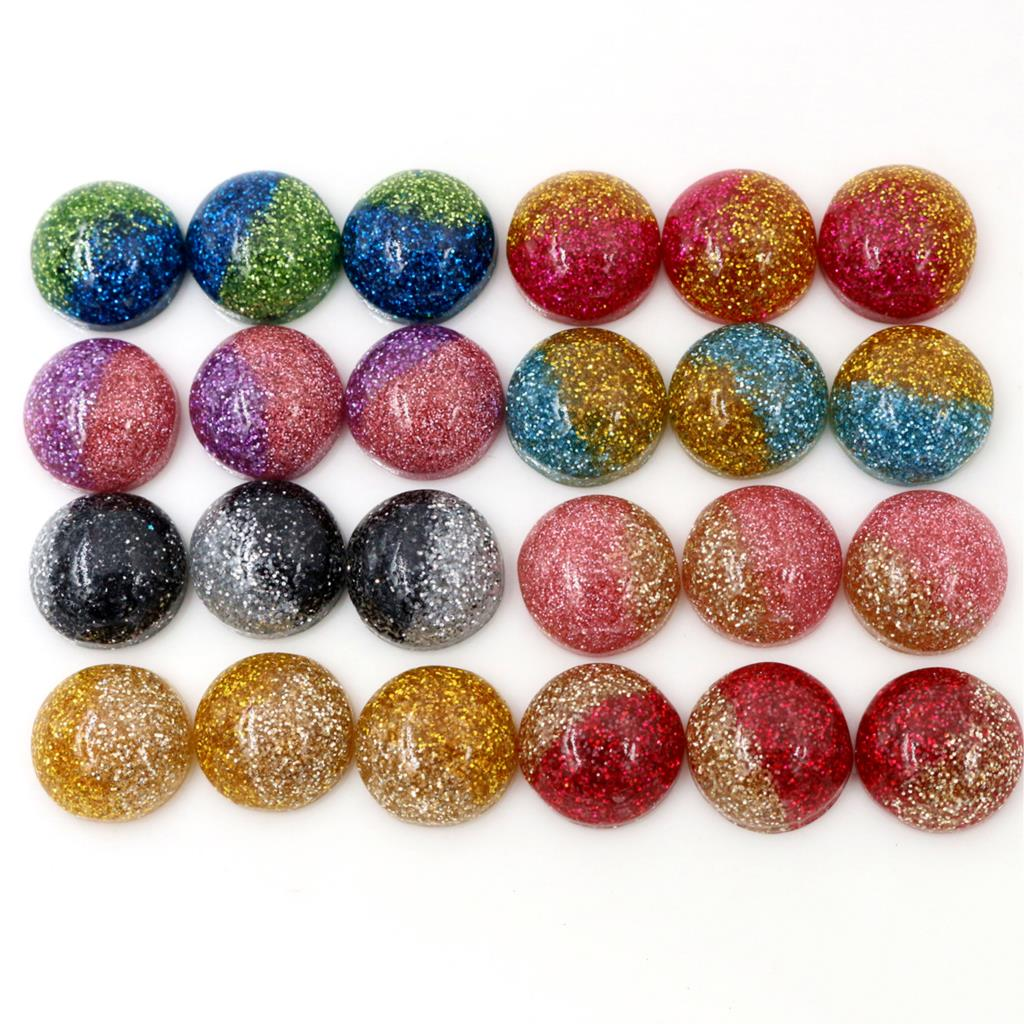 New New New !! 40pcs 12mm Mix Colors Flat Back Resin Cabochons Cameo Fit 12mm Cameo Base Cabochons For Charms Bracelet Necklace