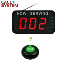 Take a number system 3-digit display with Next Control Button Wireless Queue Management System 2 3 alphanumeric display receiver host 433mhz with touch screen voice broadcast for restaurant ordering system queue management