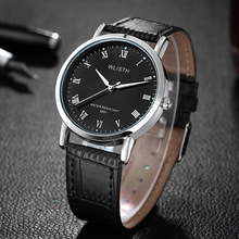 Men's Watch Neutral Simple Steel Watch Luminous Waterproof Leather Belt Black Men's Wrist Watch Horloges Mannen Fashion Clock aidis brand girl boy watch women men student simple black white silicone strap watch outdoor luminous sport clock dames horloges