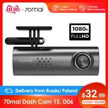 70mai çizgi kam 1S araba dvrı 70 mai kamera desteği akıllı ses kontrolü WIFI kablosuz bağlantı 1080P HD 130 derece FOV