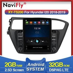 2GRAM 32GROM Android Tesla screen Car Multimedia Navigation For Hyundai i20 2018 2019 Car radio stereo player 4G LTE