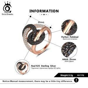 Image 5 - לאורסה תכשיטים יוקרה לשלב מעגל קוקטייל טבעות מבריק מעוקב זירקון Infnite חתונת אירוסין טבעת תכשיטים טרנדי SR172