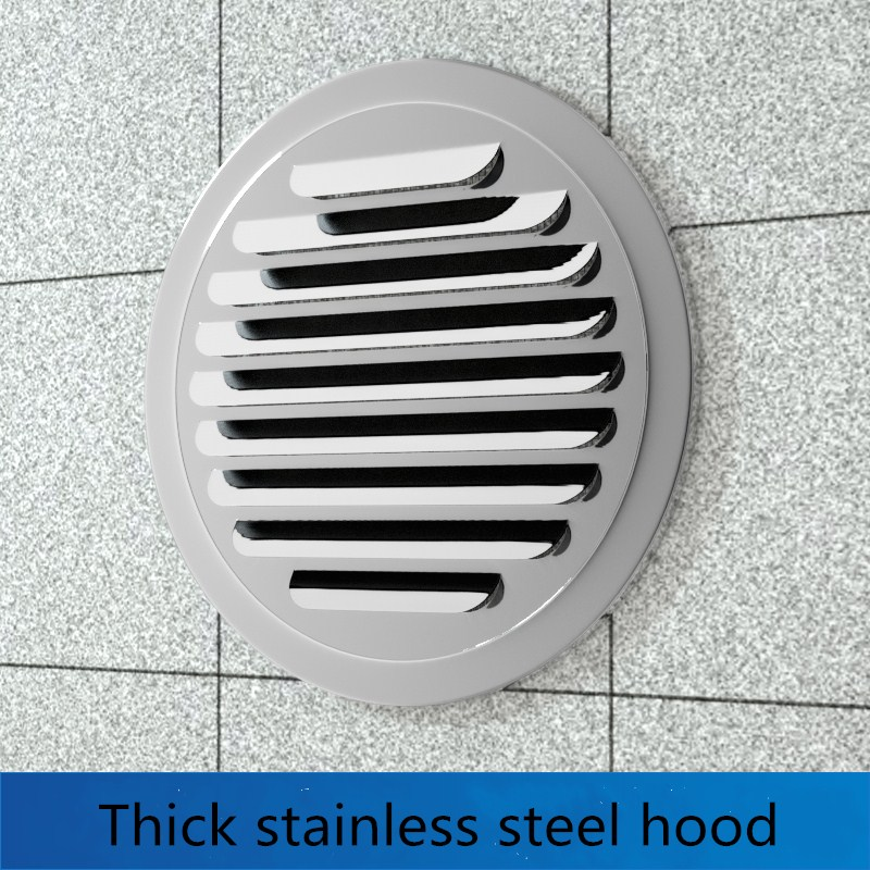 Stainless Steel Ducting Ventilation Grilles 70-200mm Round Wall Air Outlet Vent Cover Hole Plug Exterior Wall Ventilation System