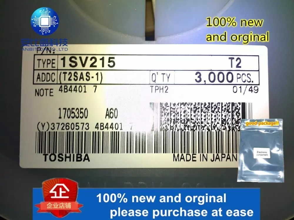 50pcs 100% New And Orginal 1SV215 T2 Varactor Diode In Stock