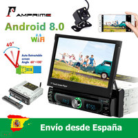 AMPrime 1 din Android 8.0 Car radio Multimedia player Car Radio Universal Car DVD Player GPS Navigation FM AM USB