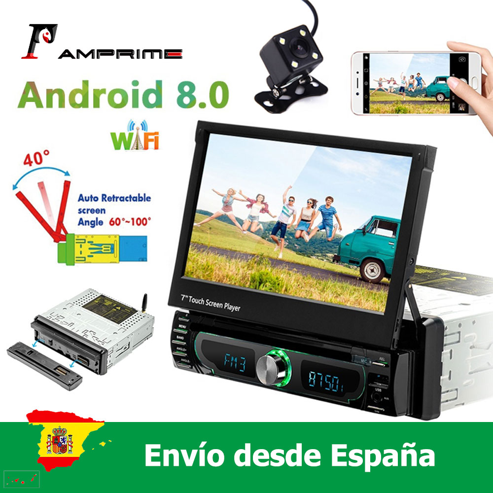 AMPrime 1 din Android 8.0 Car radio Multimedia player Car Radio Universal Car DVD Player GPS Navigation FM AM USB image