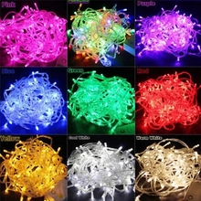 String Garland Christmas Tree Fairy Lighting Luce Waterproof 10M 5M 100Led 40Led Home Garden Party Outdoor Holiday Decoration