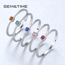 Gem Time Created Emerald VVS Bague font b Rings b font font b 925 b font