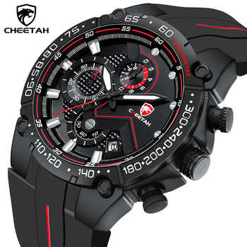 Top Brand CHEETAH Men Watch Casual Business Wristwatch Fashion Luxury Silicone Strap Sports Waterproof Clock Relogio Masculino - discount item  90% OFF Men's Watches