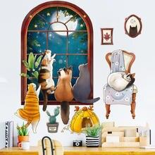 Мультяшная Настенная Наклейка для детской комнаты домашний декор