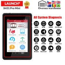 LAUNCH X431 Pro Mini Scanner de Diagnostic complet de voiture, système complet, WiFi/Bluetooth X 431, mini Scanner OBD2, 2 ans de mise à jour gratuite