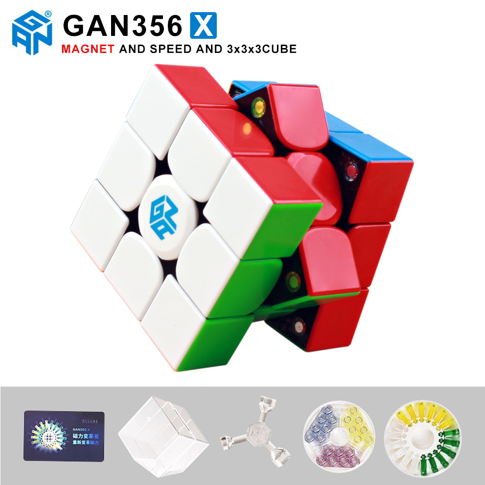 New GAN356 X Magnetic Magic Speed Cube Professional 356X Magnets Puzzle Cubo Magico Gan 356 X Educational Toys For Children