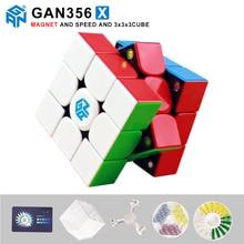 лучшая цена New GAN356 X magnetic magic speed cube professional 356X magnets puzzle cubo magico gan 356 X Educational Toys For Children