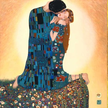 100% Hand Painted Canvas Artist Gustave Klimt Painting Reproduction The Kiss II Wall Décor Painting Wall Painting Home Décor
