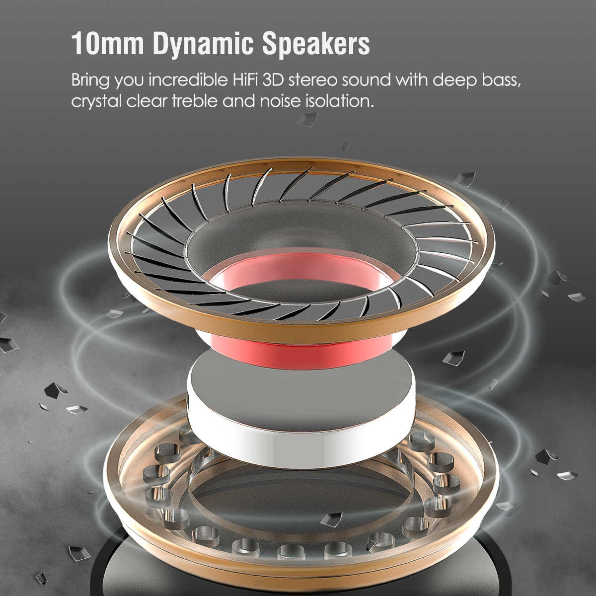 Mixcder Wireless Bluetooth TWS Earphone Waterproof Sport Headset Earphones Earbuds with Microphone Headphone