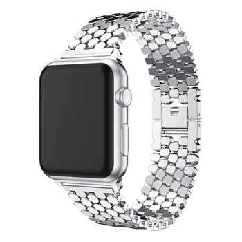 JANSIN link Stainless Steel Strap for apple watch band 42mm/38mm/40mm/44mm bracelet watch band for iwatch bands series 5 4 3 2 1