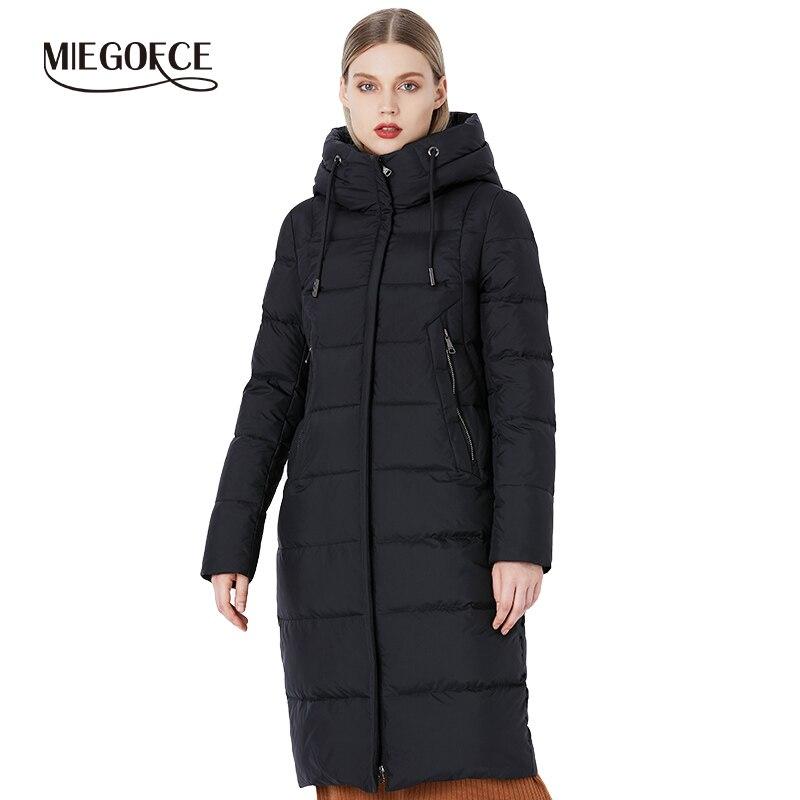 MIEGOFCE 2019 hiver nouvelle Collection Bio peluches à capuche femmes manteau d'hiver Parka Style européen chaud élégant femmes veste d'hiver