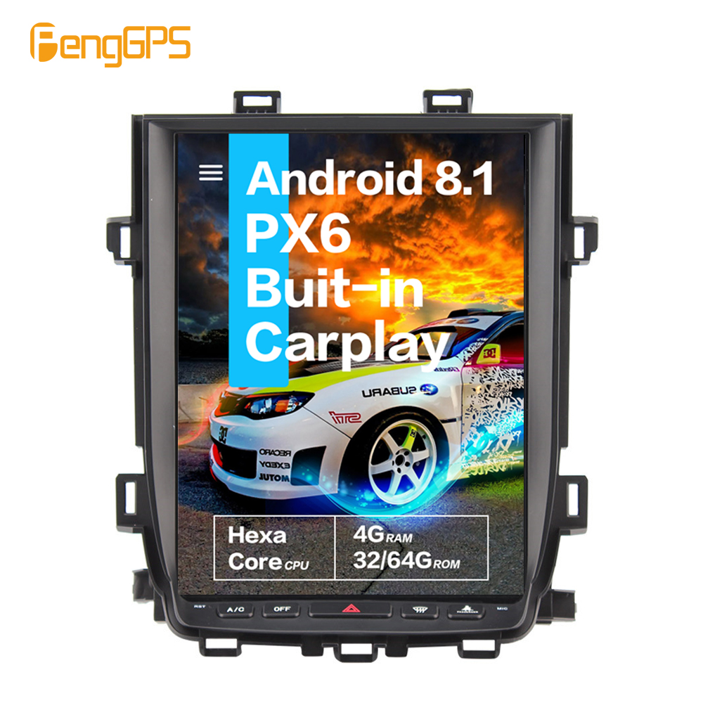 12.1''Tesla Android 8.1PX6 4+64GB voice control Built-in CARPLAY Car Radio For <font><b>Toyota</b></font> Alphard <font><b>2007</b></font> - 2013 GPS Navigation image