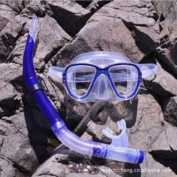 Tajwan Aryca Aryca gogle gogle do nurkowania rurka do oddychania/maska nosowa niebiesko żółta w Okulary ochronne od Bezpieczeństwo i ochrona na