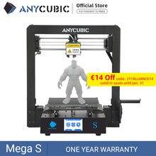 Anycúbico mega-s mega s impressora 3d i3 mega atualização grande tamanho tpu alta precisão tela de toque diy kit impressora 3d impressora impressora 3d impressora impressora 3d