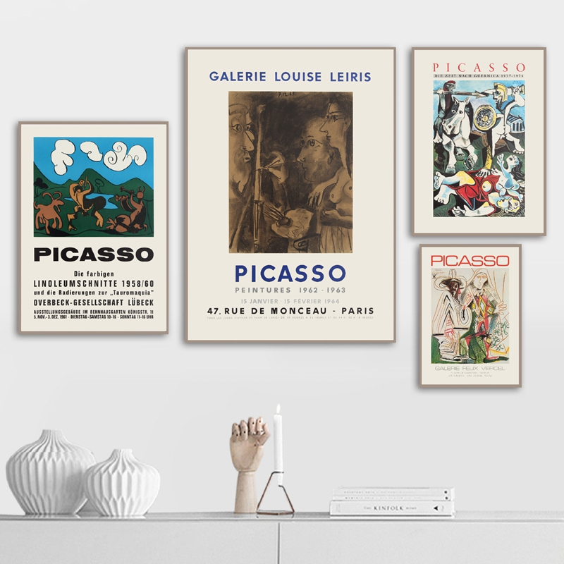 Picasso exhibition posters print