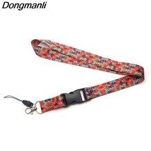 PC134 Wholesale 20pcs/ lot Autism Awareness Jigsaw Puzzle Lanyard Badge ID Lanyards/ Mobile Phone Rope Neck Straps keychain