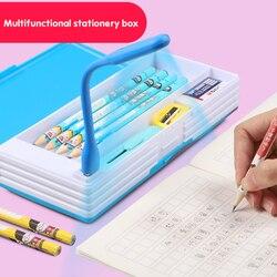 2020 Baru Kreatif Multifungsi Pensil dengan Lampu LED USB Mini Fan Siswa Alat Tulis Kotak Korea Pensil Anak Laki-laki dan gadis