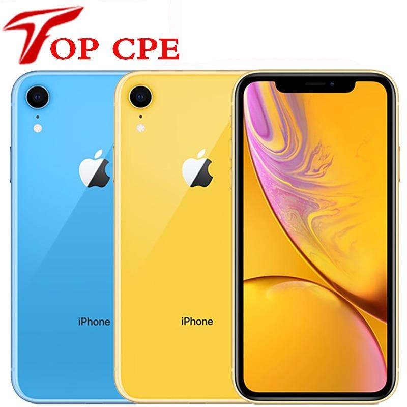 Оригинальный Apple iPhone XR xr 2942 мАч ОЗУ 3GB ПЗУ 64GB/128GB /256G разблокированный мобильный телефон 4 аппарат не привязан к оператору сотовой связи 6,1
