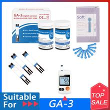 English version GA-3 blood glucose test strips 50/100/200pcs Suitable for GA3 with Lancets Blood Sugar Detection Glucometer