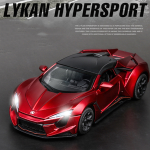 Image 2 - 1:32 Lykan Hypersport Alloy Car Model Diecasts & Toy Vehicles Toy Car Metal Collection Toy Kid Toys for Children Kids Gifts