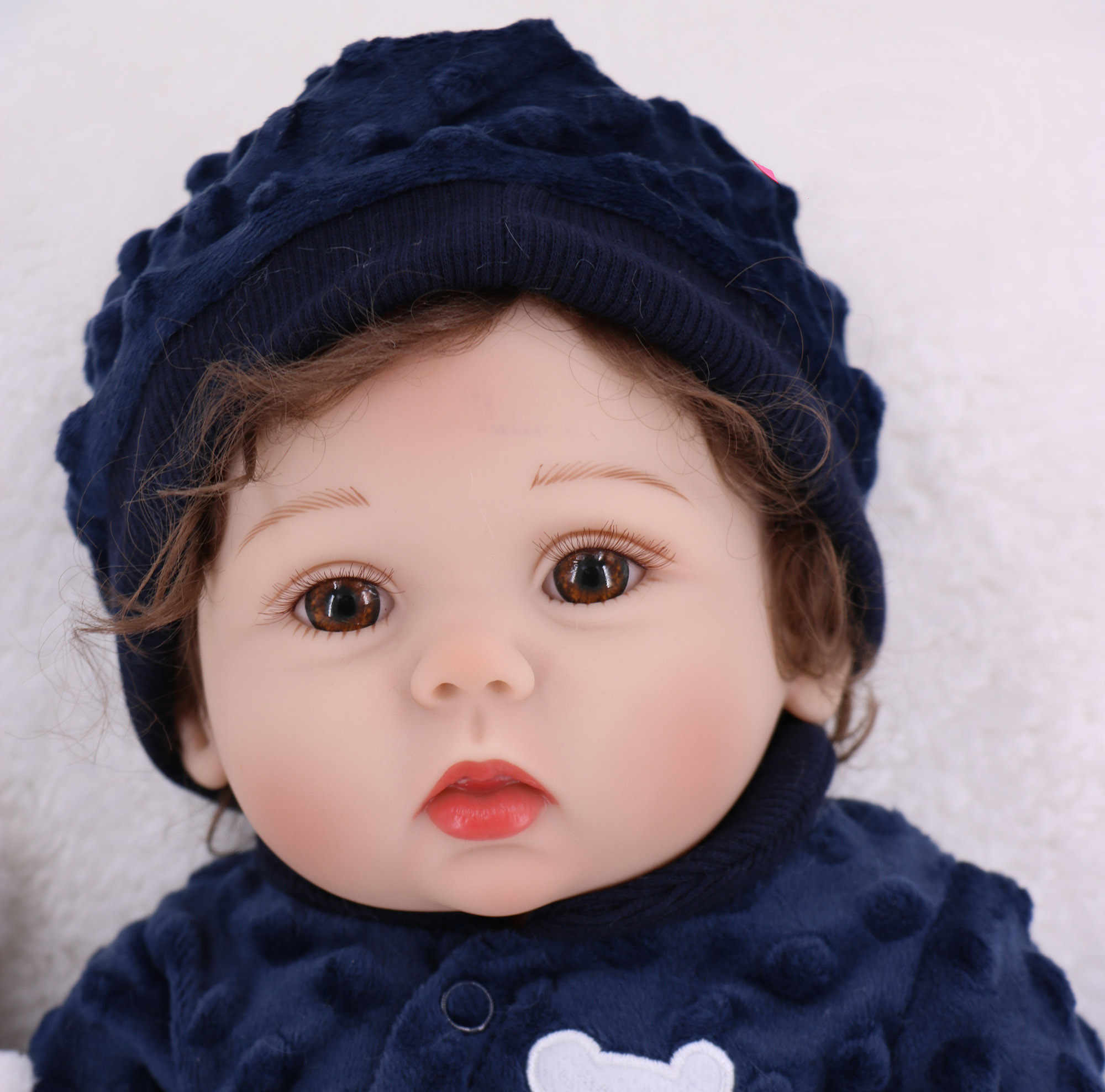 17inch 43cm Bebe Doll Reborn Toddler Girl Full Body Soft Silicone Reborn Baby Girl Doll Realistic Baby Bath Toy Gifts Brinquedos Aliexpress