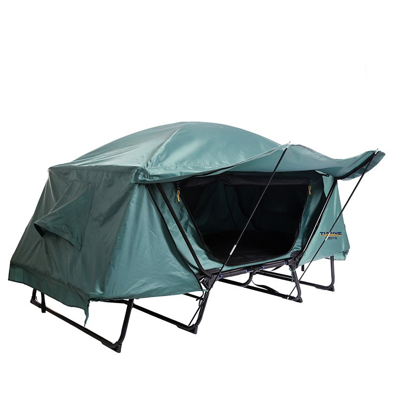 Outdoor Camping Single Tent Waterproof Windproof Outdoor Leisure Folding Fishing Car Roof Off The Ground Tent  Camping Supplies