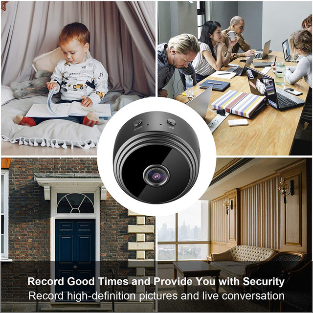 Wireless IP Camera Work On 2.4GHz WiFi Night Vision Alarm Push Built-in Magnet Easily Place Anywhere 1080P Home Security Camera 6