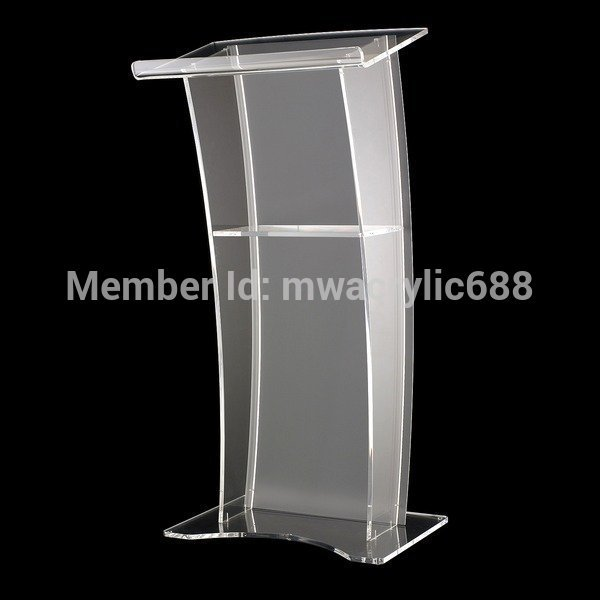 Pulpit Furniture Free Shipping Stable Modern Design Cheap Clear Acrylic Lectern Acrylic Podium Plexiglass