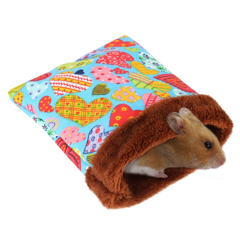 Warm Hamster Bed House Soft Plush Guinea Pig Bed Rat Nest Small Animals Mouse Sleeping Bag House Accessories Hamster Cage