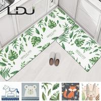 RULDGEE нескользящий маслостойкий водонепроницаемый ПУ ПВХ ковер для гостиной современный кухонный коврик спальня коврик