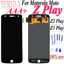 100% Tested For 5.5inch Motorola moto Z Play Z2 Play Z3 Play Lcd Screen Display For moto Z Play Screen Digitizer Assembly цена