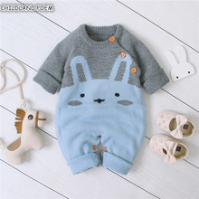 Knitted Baby Clothes Autumn Winter Baby Romper