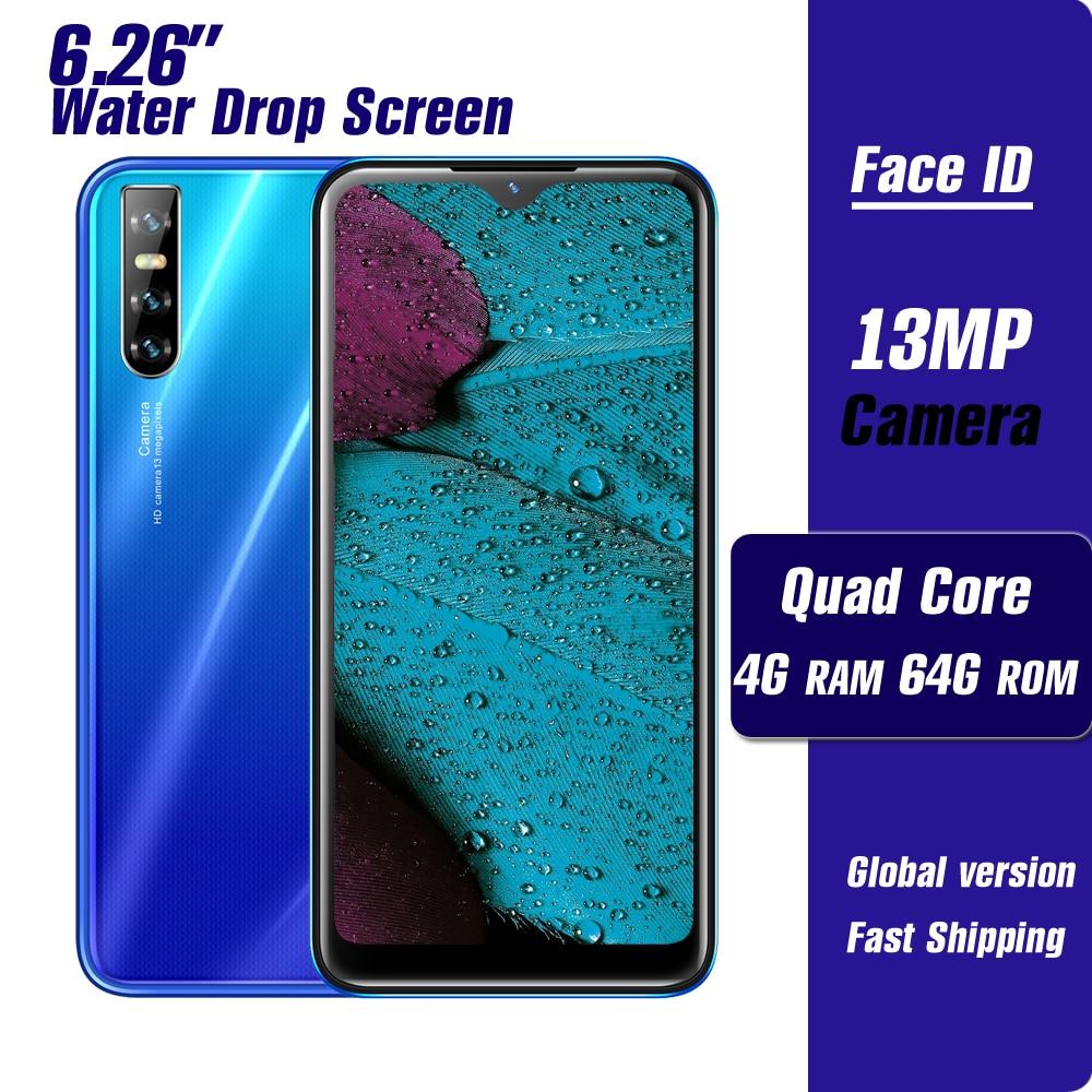 Смартфон A70s, 4 + 64 ГБ, 4 ядра, 13 МП, 6,26 дюйма, Android