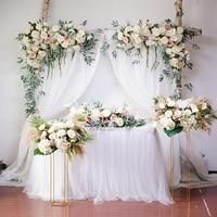 Conjunto de fondo de boda, arco Floral rosa, Flor del triángulo, fila de flores decorativas, arreglo de flores artificiales