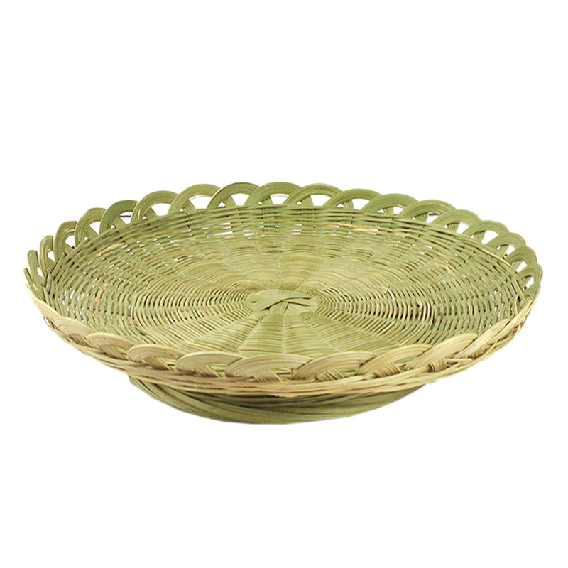 Handmade Bamboo Braided Candy Dish Vegetable Bamboo Green Drain Basket Bread Storage Basket Drying Pancakes Steamed Bread Basket|Bags & Baskets| |  -