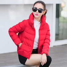 Short Cotton Parkas 2020 Winter Jacket Women Abrigos Mujer Stand Collar Outwear Wadded Padded Jacket Parkas Winter Coat AQ923(China)