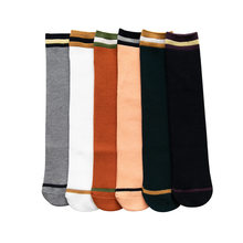 Children's Socks Tube Socks Spring And Autumn Cotton Stripes Girls over-the-Knee Socks Bunching Socks Flat Sock Kids Socks(China)