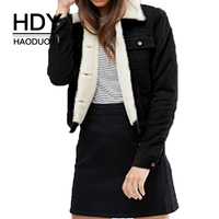 HDY Haoduoyi Fashion Classic Corduroy Solid Colo Shirt Sleeve Long Sleeve Street Pocket Single Breasted Jacket Coat For Women
