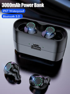 Stereo Earbuds Headsets Microphone Touch-Control Tws Bluetooth Ipx7 Waterproof 8D Sport