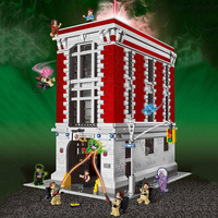 Ghostbusters Firehouse Headquarters Compatible 75827 Building Blocks Kit Street View Construction Toys For Kids Child Gift
