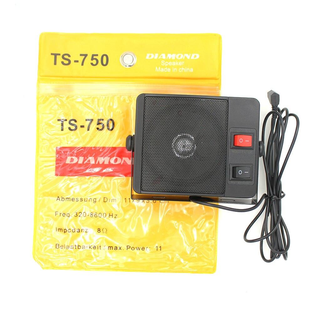 3.5mm Diamond Heavy Duty TS-750 External Speaker For Walkie Talkie QYT TYT CB Two Way Radio Car Mobile Radio
