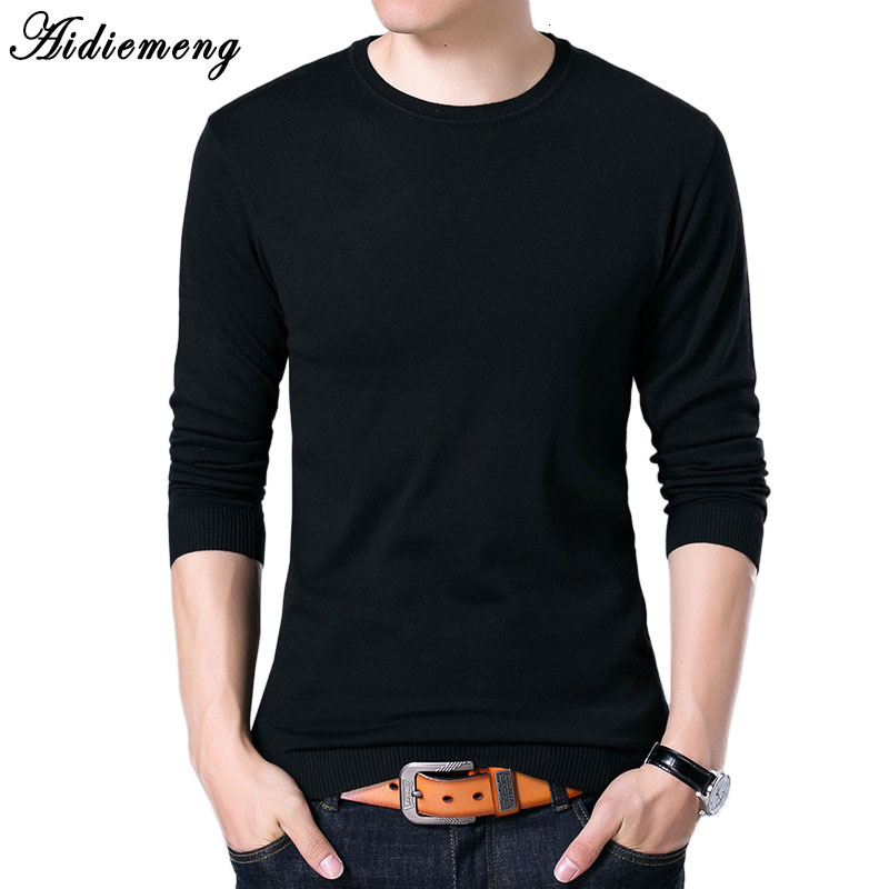 Men's Sweater Spring  Men's Fashion Sweater Round Leader Long Sweater Fine Sweater Woolen Sweater Men 12