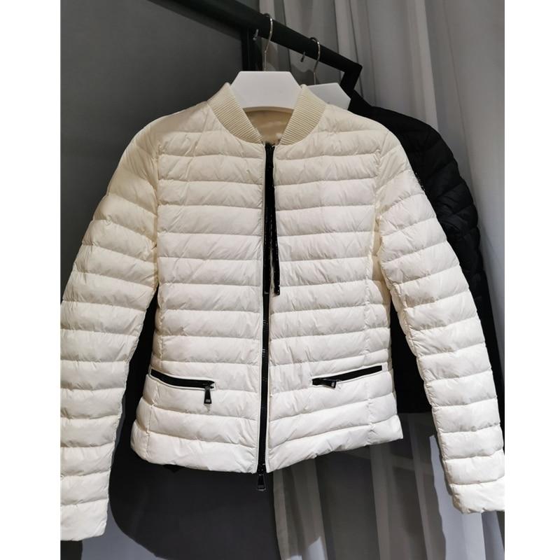 Down Coat Women Winter White Duck Down Female Overcoat Pocket Zipper White Duck Down Woman Winter Coat Jacket Woman Outwear Warm